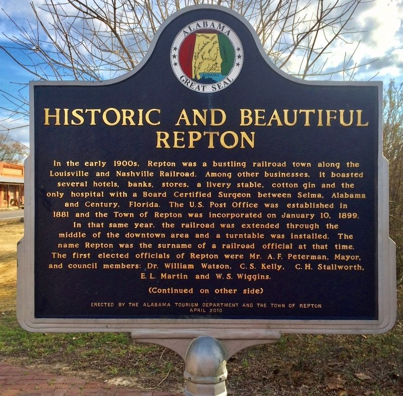 Historic and Beautiful Repton Marker (Side 1) image. Click for full size.