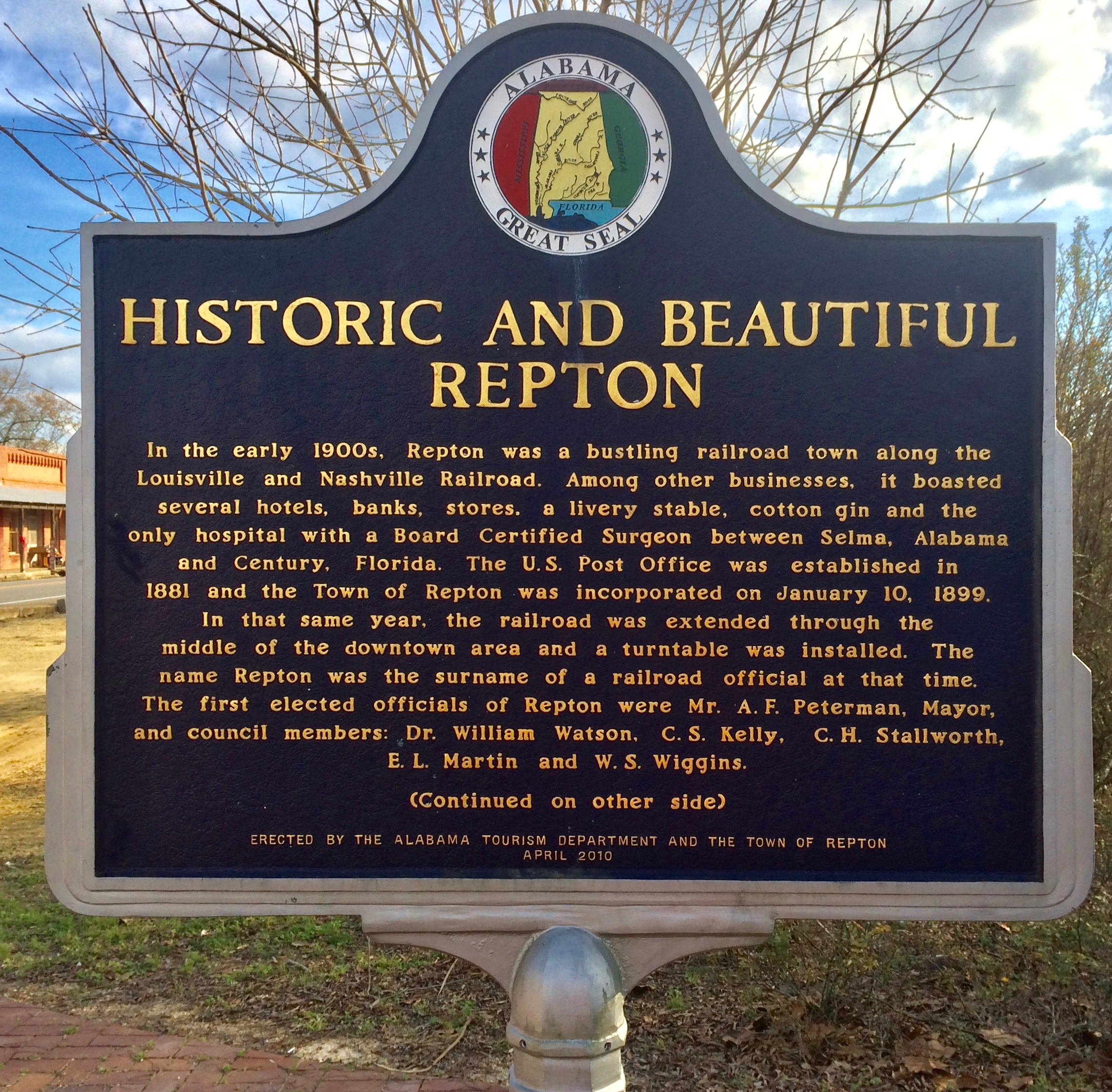 Historic and Beautiful Repton Marker (Side 1)