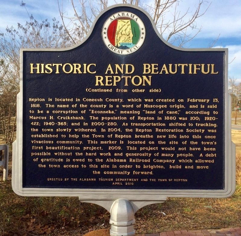 Historic and Beautiful Repton Marker (Side 2) image. Click for full size.