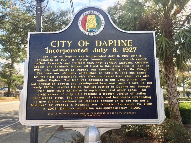 City of Daphne Marker image. Click for full size.