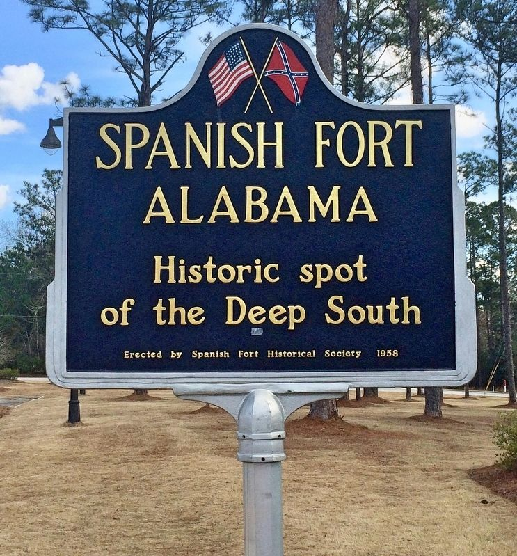 Spanish Fort Marker image. Click for full size.