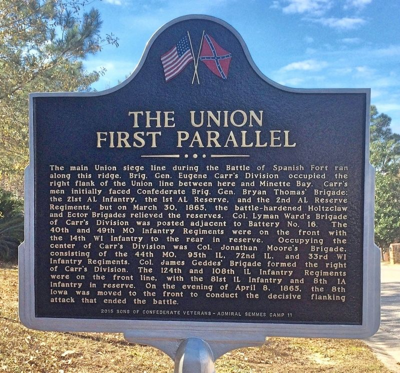 The Union First Parallel Marker (Side 1) image. Click for full size.