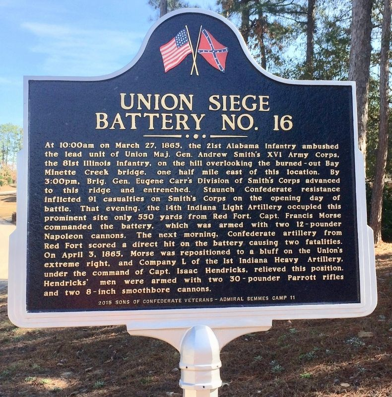 Union Siege Battery No. 16 Marker (Side 2) image. Click for full size.