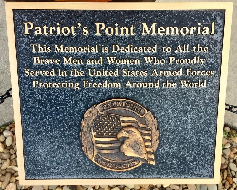 Patriot's Point Memorial Marker image. Click for full size.