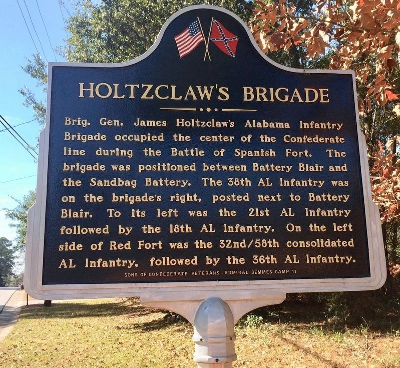 Holtzclaw's Brigade Marker (Side 1) image. Click for full size.