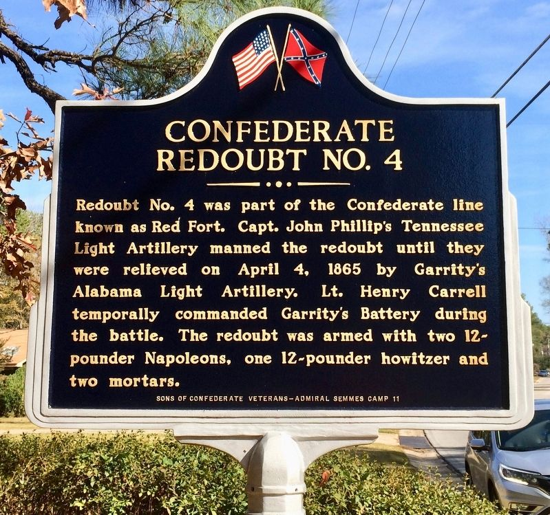 Confederate Redoubt No. 4 Marker (Side 2) image. Click for full size.
