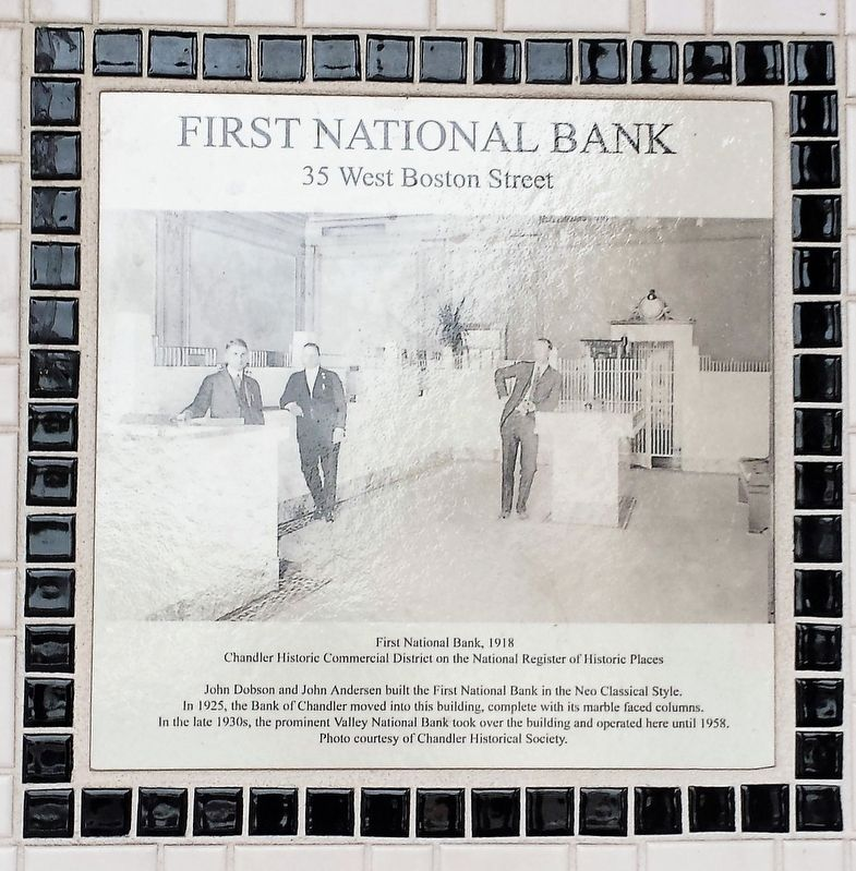 First National Bank, 1918 Marker image. Click for full size.