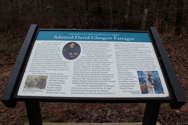 Admiral David Glasgow Farragut Marker image. Click for full size.