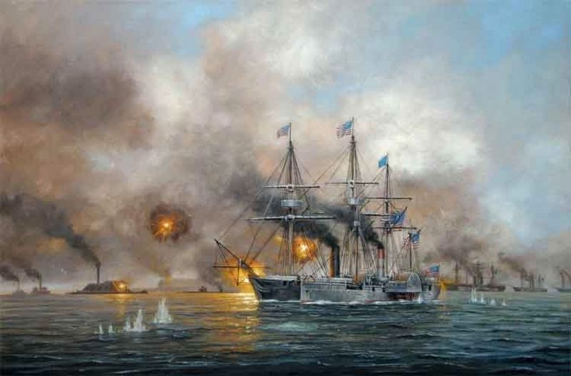 Battle of Mobile Bay image. Click for full size.