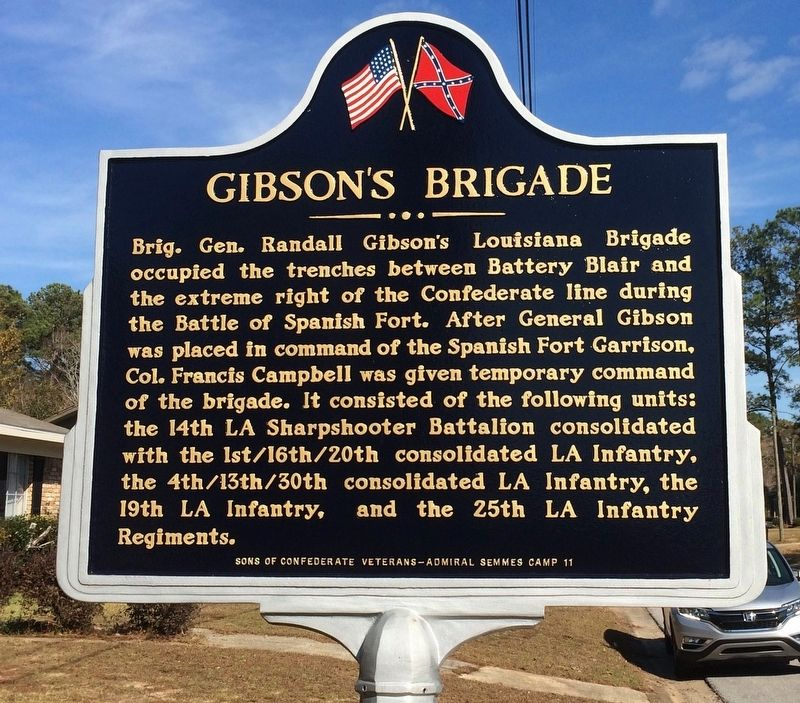 Gibson's Brigade Marker (Side 2) image. Click for full size.