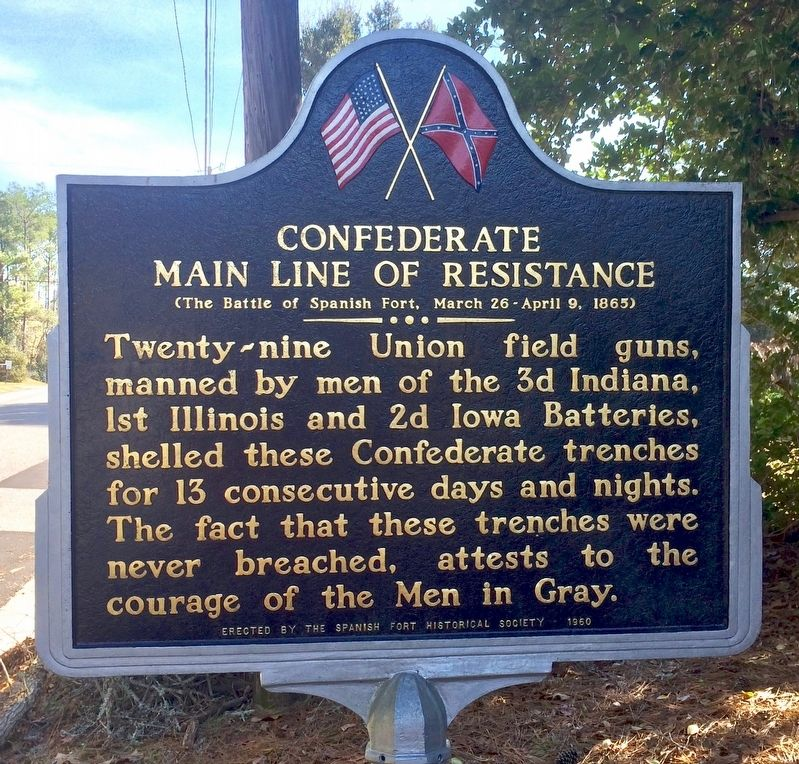 Confederate Main Line of Resistance Marker image. Click for full size.