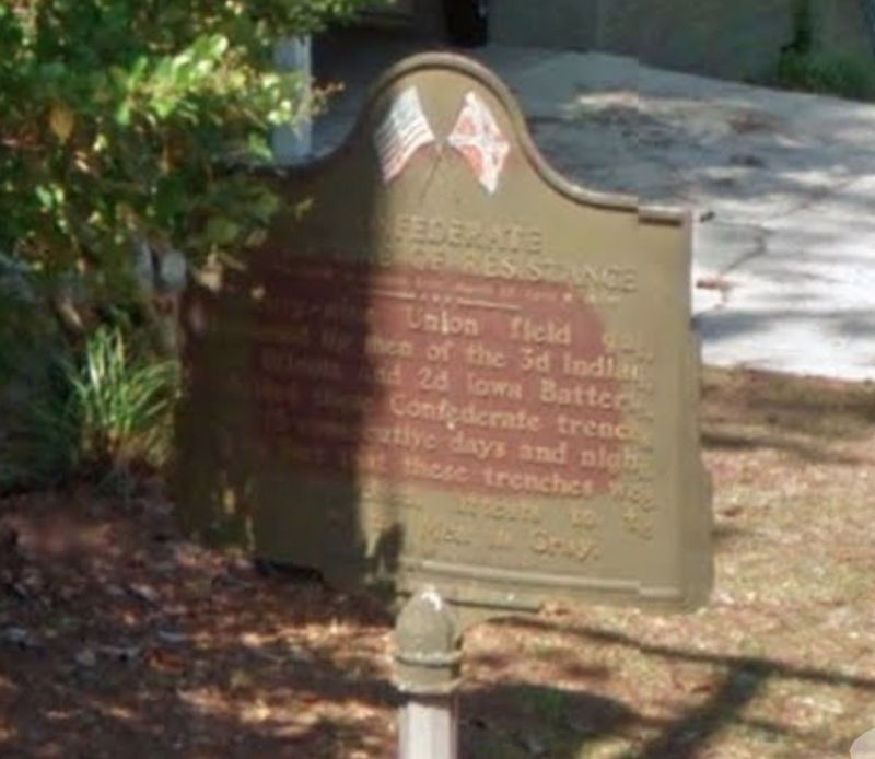 View of marker prior to repainting. image. Click for full size.