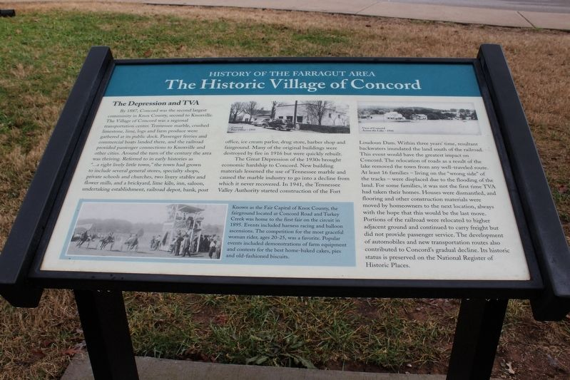 The Historic Village of Concord Marker image. Click for full size.