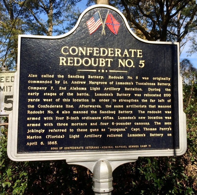 Confederate Redoubt No. 5 Marker image. Click for full size.