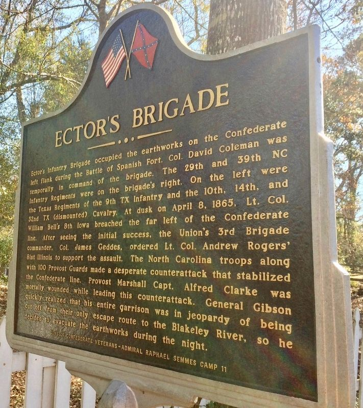 Ector's Brigade Marker (Side 2) image. Click for full size.