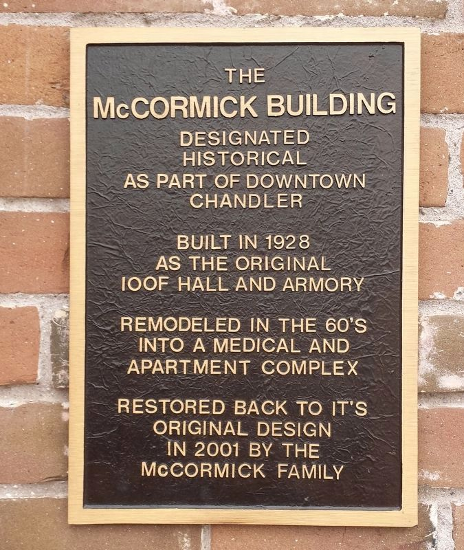 The McCormick Building Marker image. Click for full size.