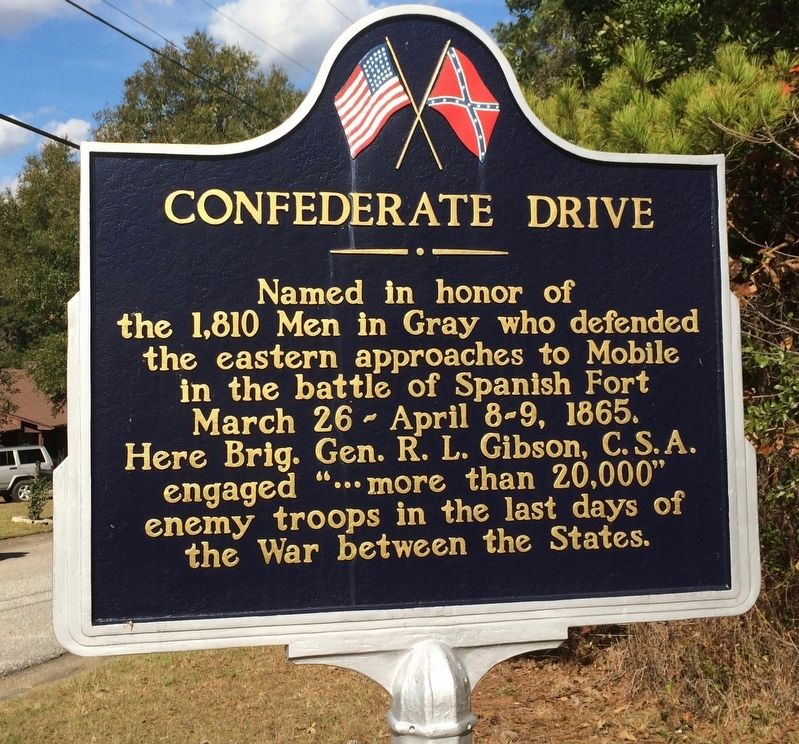 Confederate Drive Marker image. Click for full size.