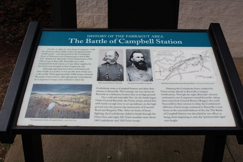 The Battle of Campbell Station Marker image. Click for full size.