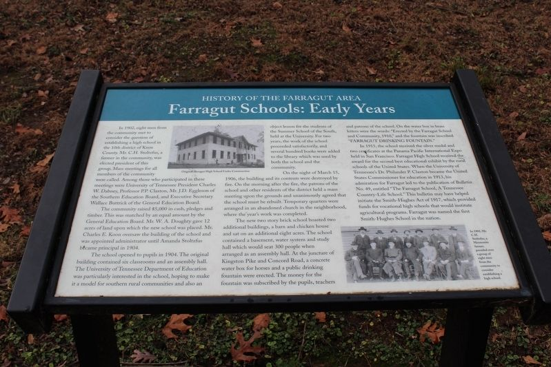 Farragut Schools: Early Years Marker image. Click for full size.