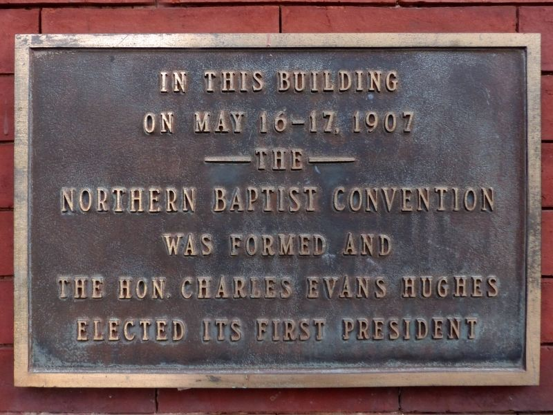 The Northern Baptist Convention Marker image. Click for full size.