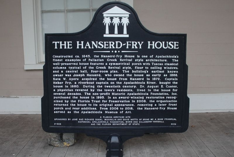 The Hanserd-Fry House Marker image. Click for full size.