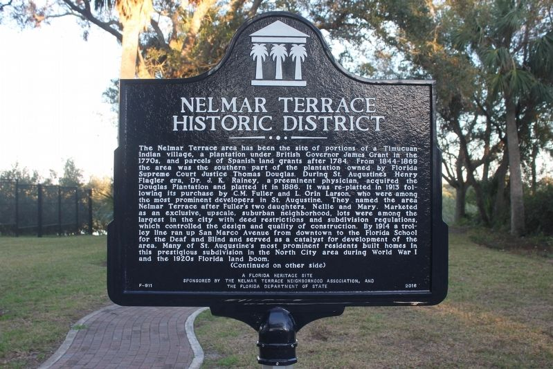 Nelmar Terrace Historic District Marker image. Click for full size.