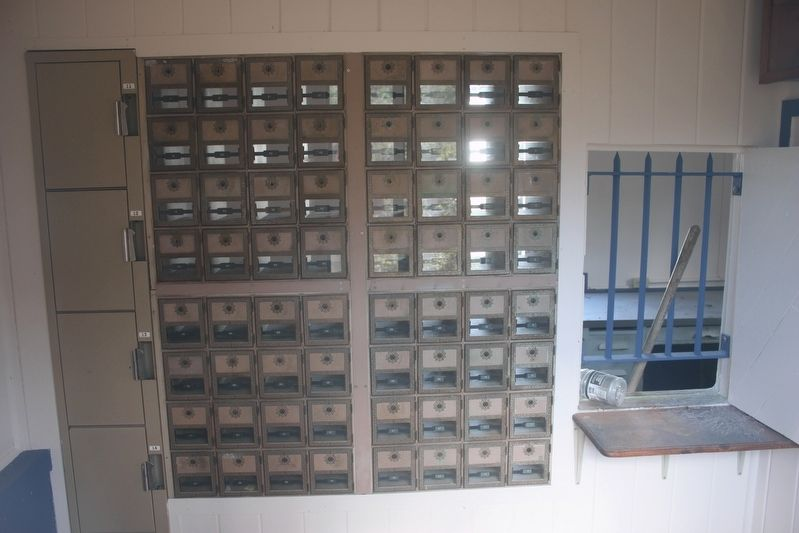 The Edgar Post Office PO Boxes and service window. image. Click for full size.