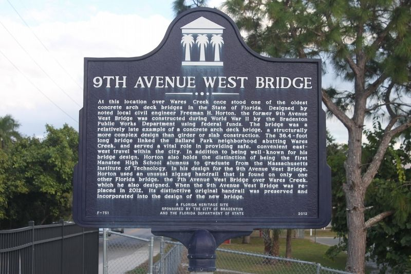 9th Avenue West Bridge Marker image. Click for full size.