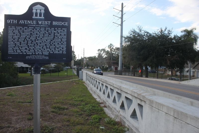 9th Avenue West Bridge Marker looking west image, Touch for more information