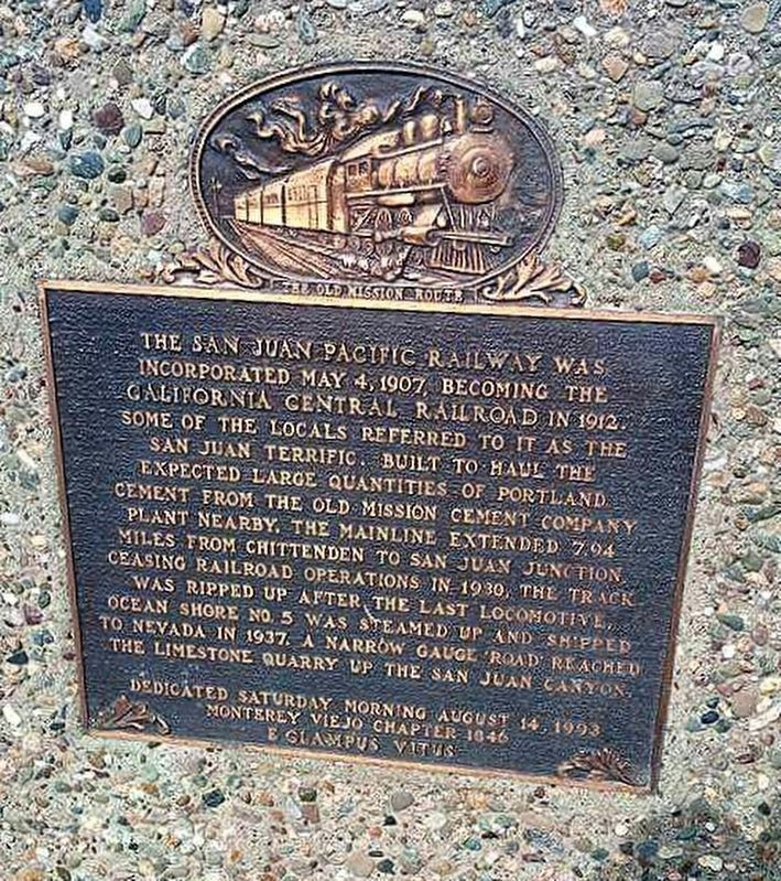 San Juan Pacific Railway Marker image. Click for full size.