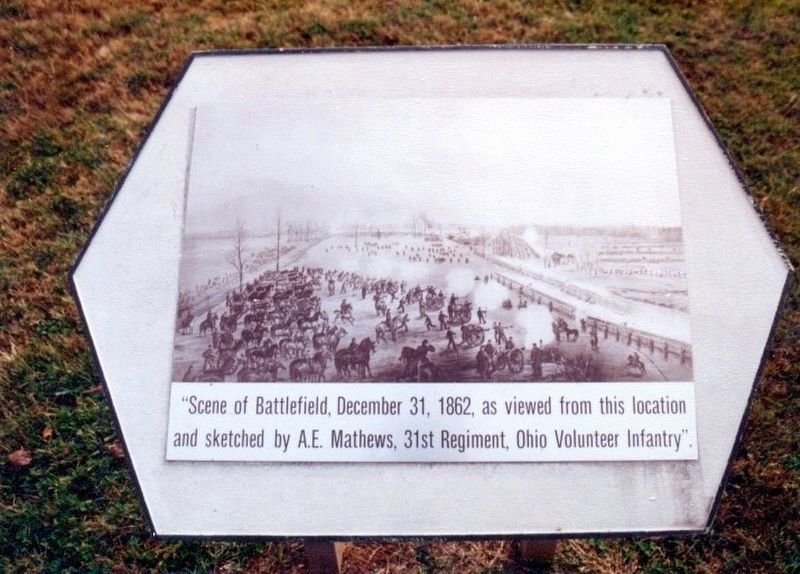 Stones River National Battlefield Marker image. Click for full size.