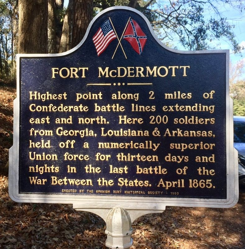 Fort McDermott Marker image. Click for full size.