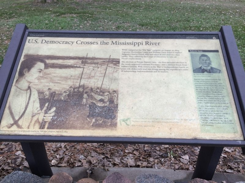 U.S. Democracy Crosses the Mississippi River Marker image. Click for full size.