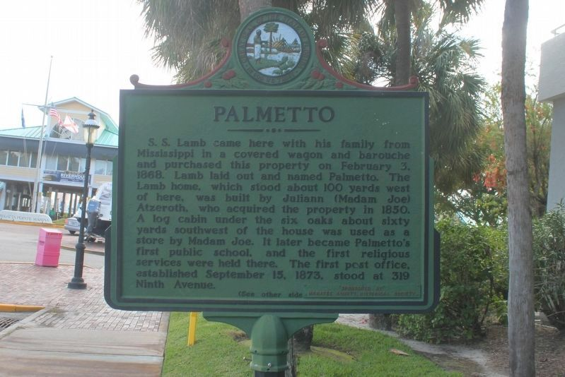Palmetto Marker (side 1) image. Click for full size.