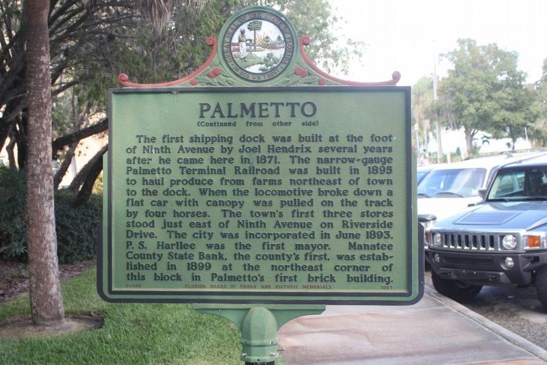 Palmetto Marker (side 2) image. Click for full size.