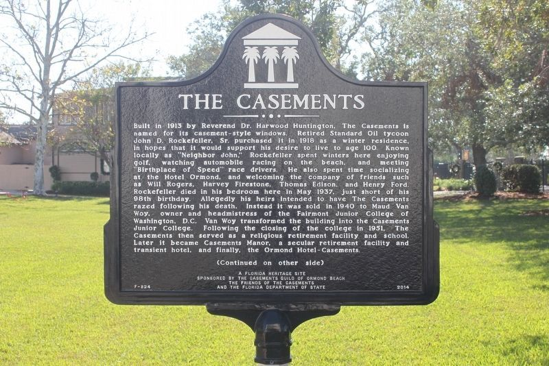 The Casements Marker (side 1) image. Click for full size.