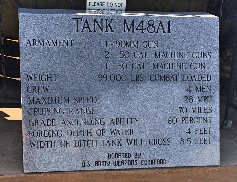 Tank M48A1 Marker image. Click for full size.