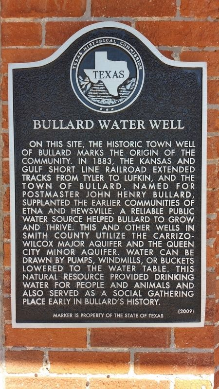 Bullard Water Well Marker image. Click for full size.