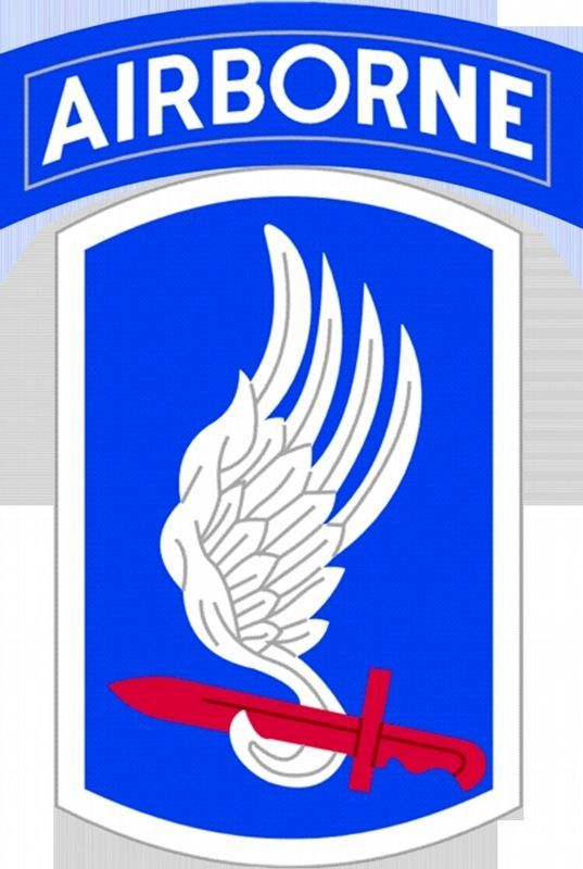 173d Airborne Brigade patch. image. Click for full size.