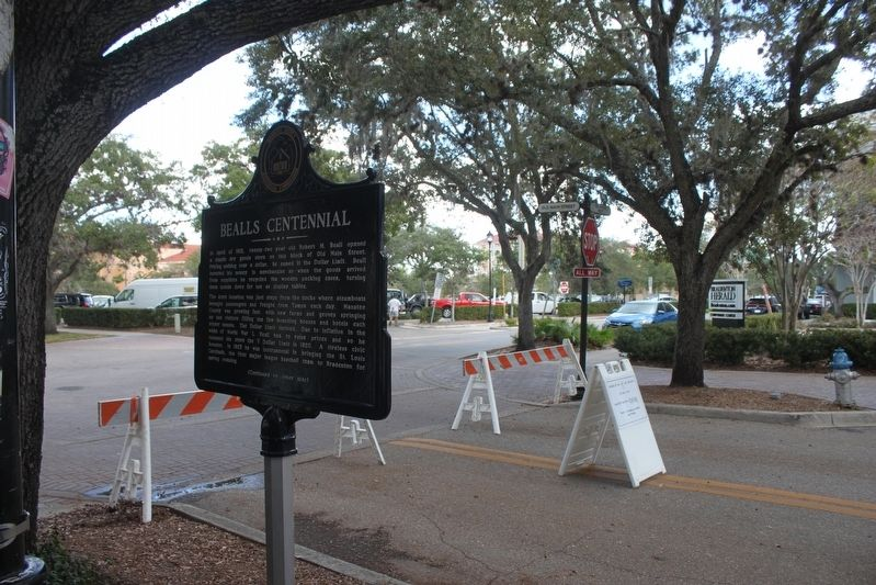 Bealls Centennial Marker and surrounding area image. Click for full size.