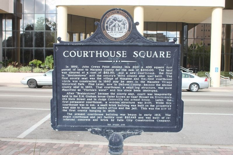 Courthouse Square Marker Side 1 image. Click for full size.