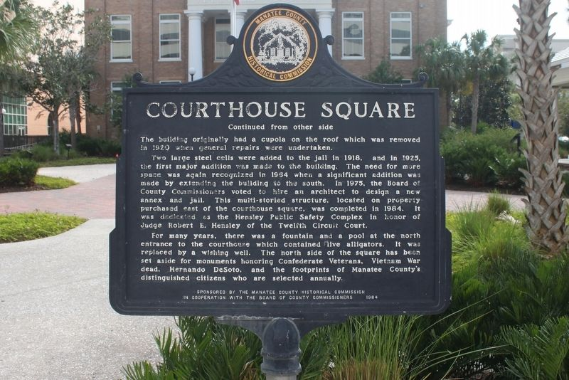 Courthouse Square Marker Side 2 image. Click for full size.