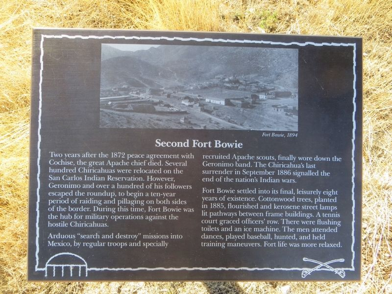 Second Fort Bowie Marker image. Click for full size.