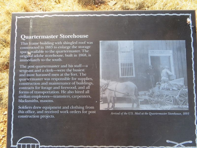 Quartermaster Storehouse Marker image. Click for full size.