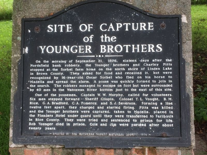 Site of Capture of the Younger Brothers Marker image. Click for full size.