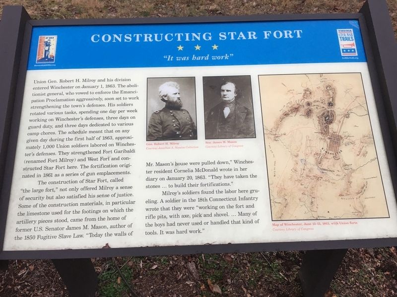 Constructing Star Fort Marker image. Click for full size.