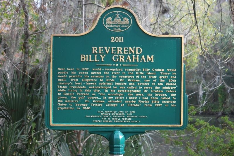 Reverend Billy Graham Marker image. Click for full size.