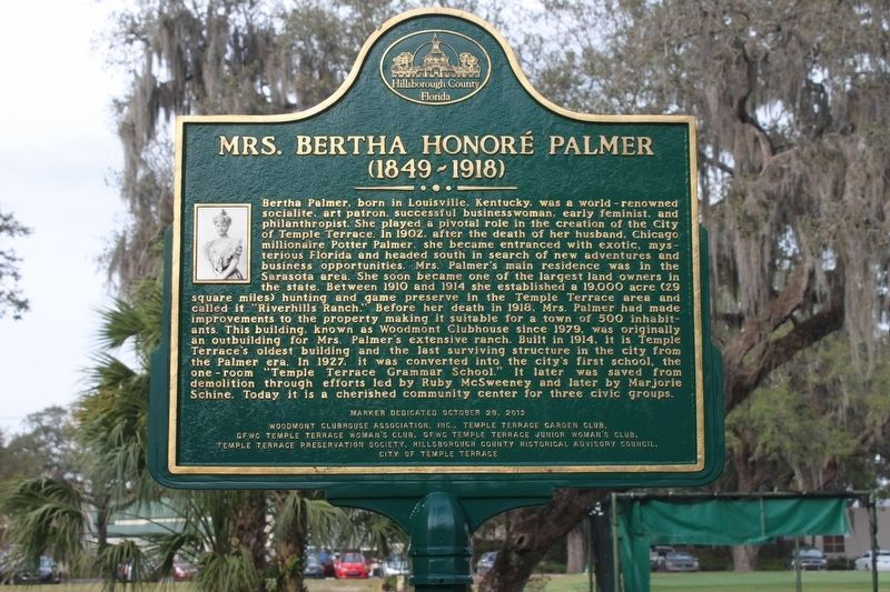 Mrs. Bertha Honoré Palmer Marker image. Click for full size.