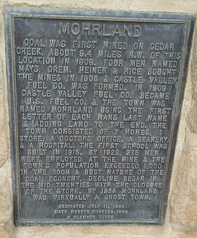 Mohrland Marker image. Click for full size.