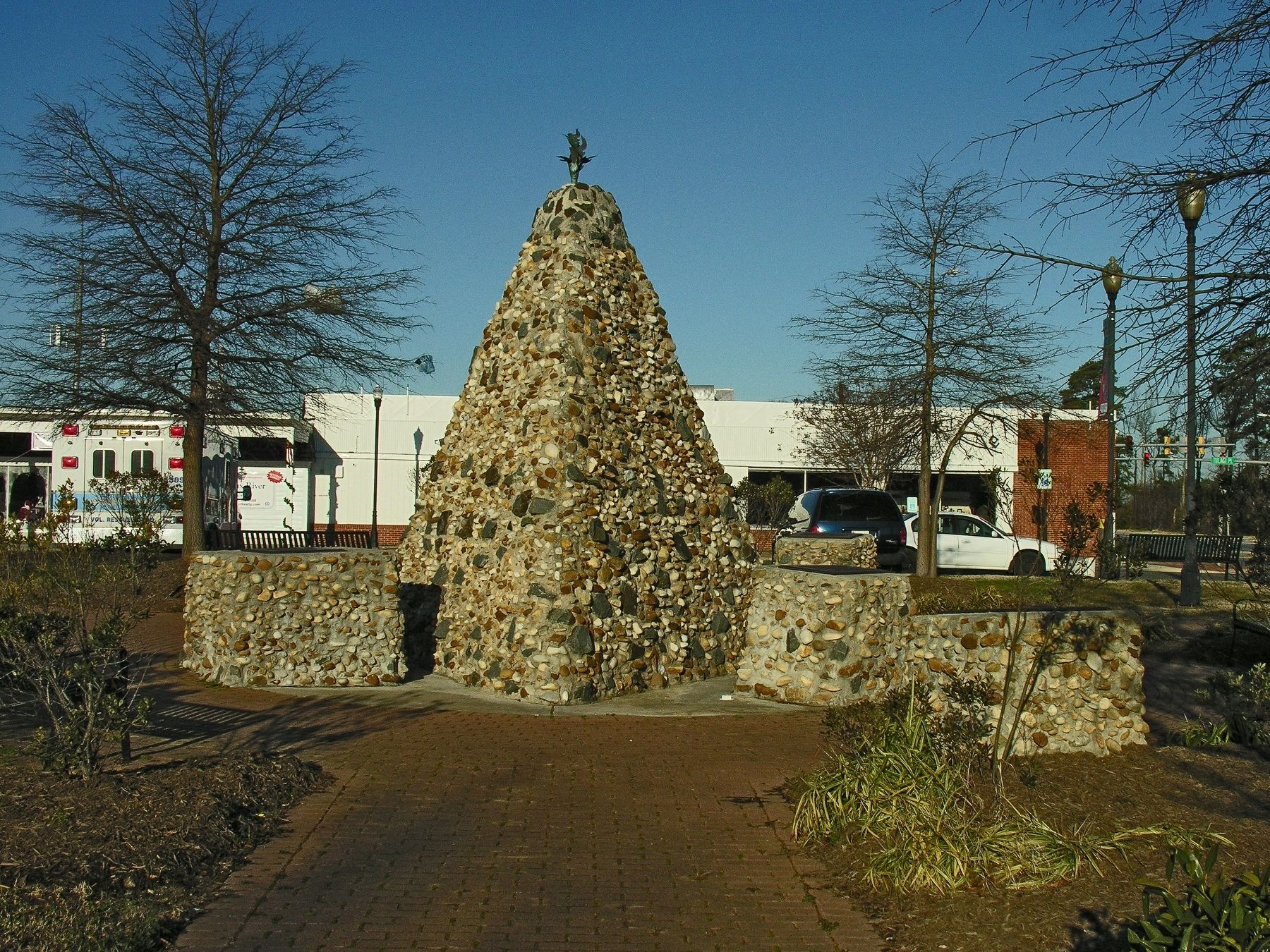 The African American Monument In Elmer Brown Freedom Park image. Click for full size.